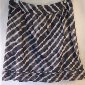 Ann Taylor Loft striped skirt size 8